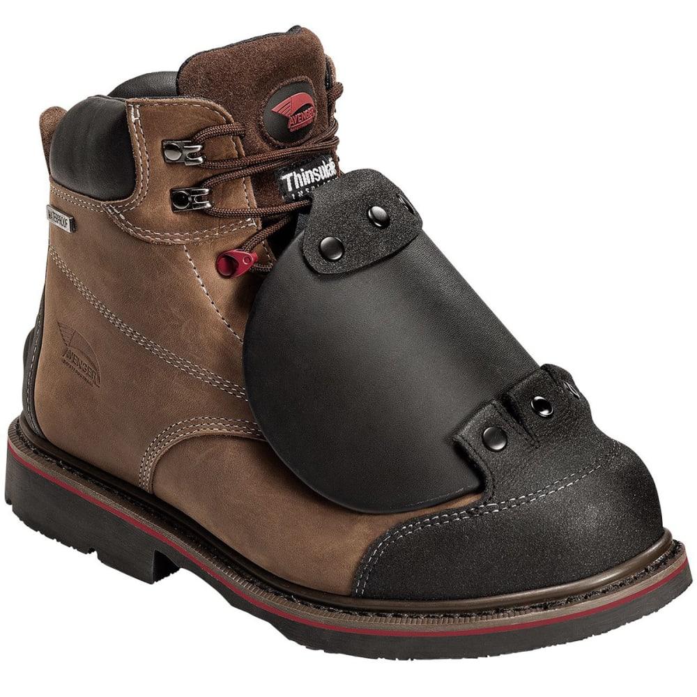 AVENGER Men's 7388 Composite Toe Waterproof Metguard Work Boots, Wide - BROWN