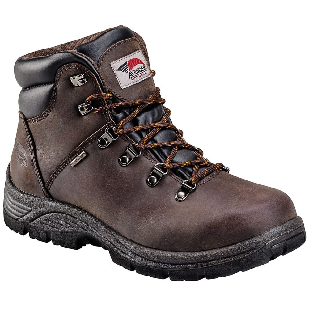 Avenger Men's 7625 6 In. Waterproof Work Boot - Brown, 7