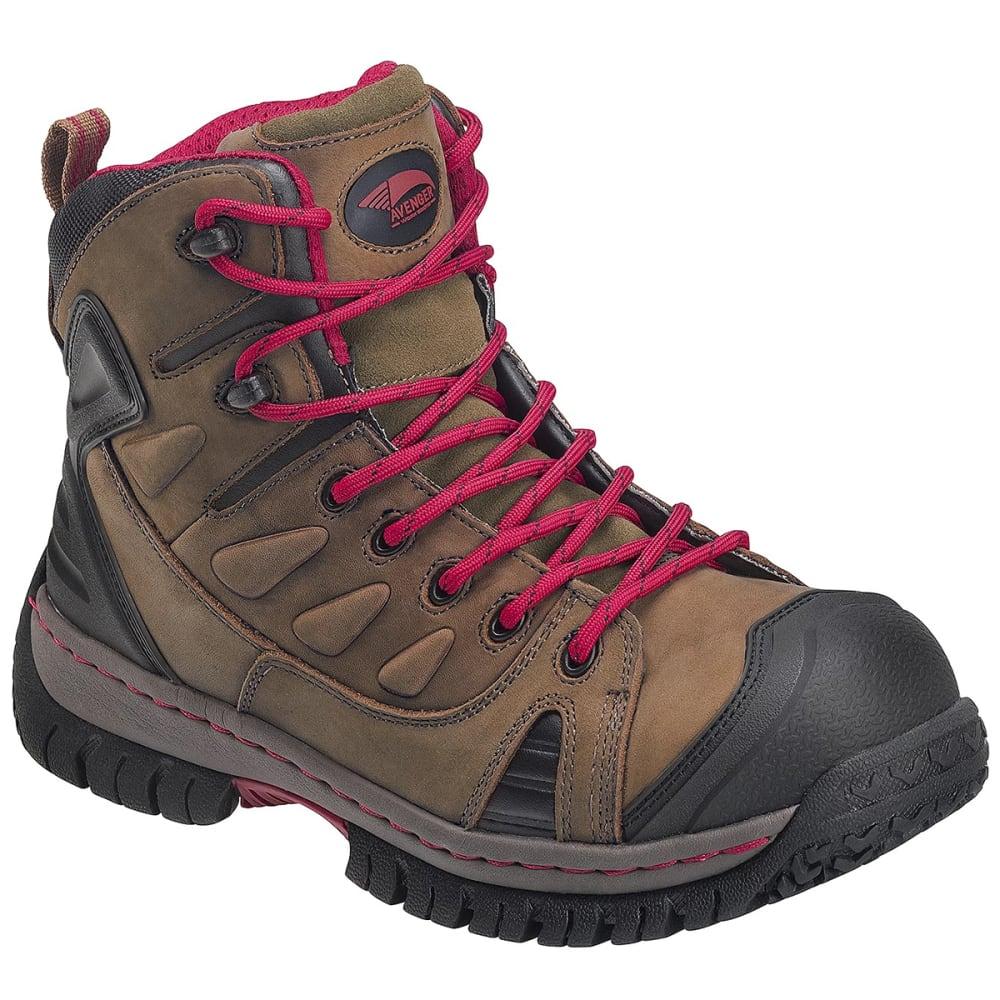 AVENGER Men's 7722 Steel Toe Waterproof Work Boot - BROWN