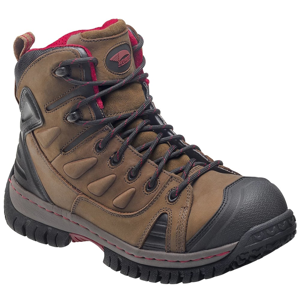 Avenger Men's 7722 Steel Toe Waterproof Work Boot - Brown, 7