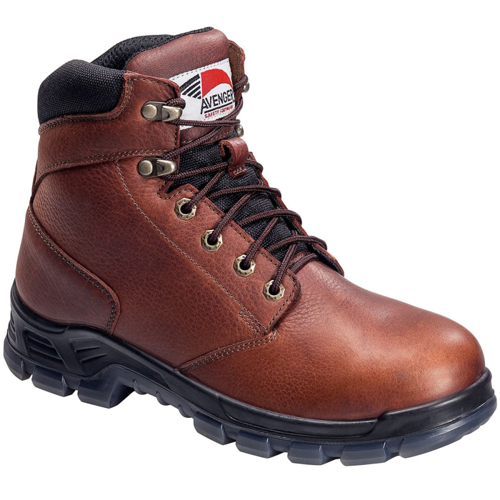 AVENGER Men's 7923 6 in. Steel Toe Waterproof Work Boot - BROWN