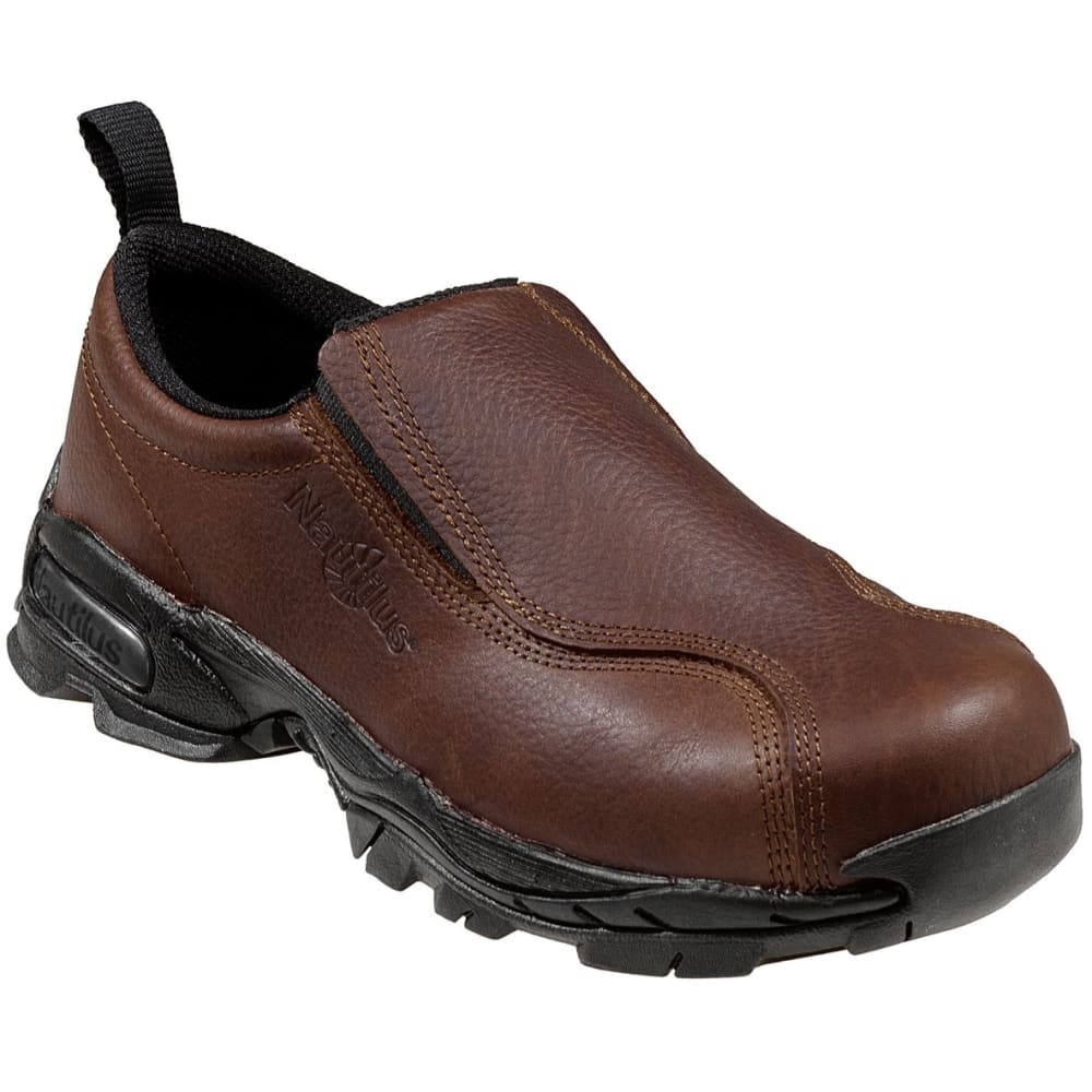 NAUTILUS Men's 1620 Steel Toe Slip-on Work Shoe - BROWN