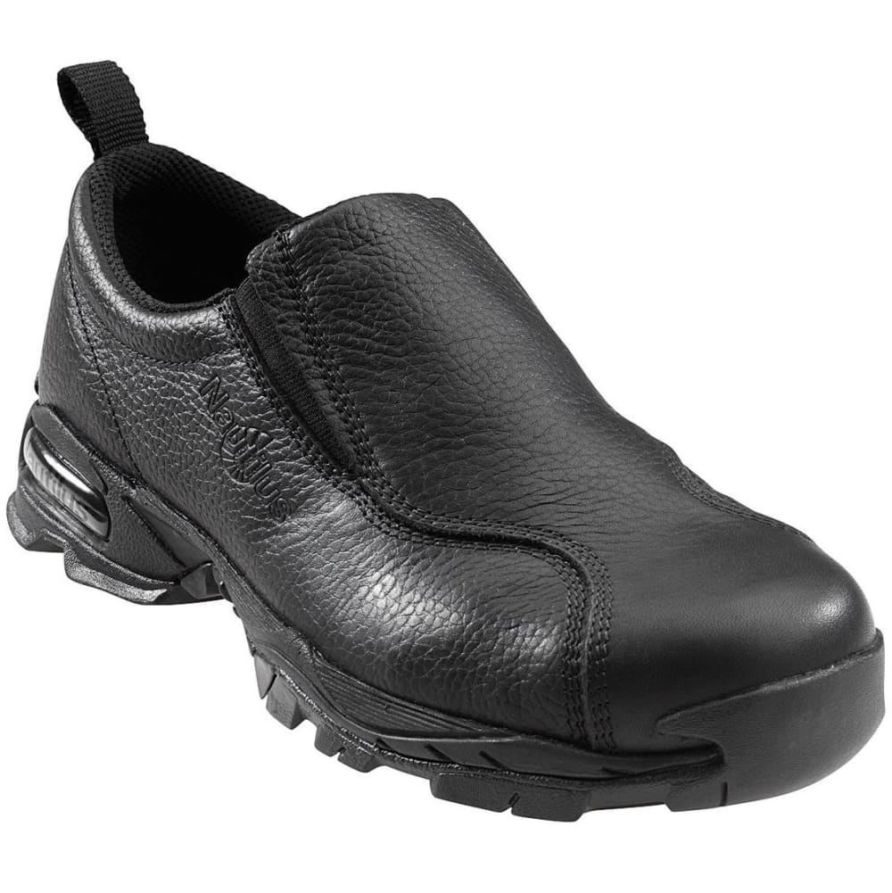 NAUTILUS Men's 1630 Steel Toe Slip-on Work Shoe, Wide - BLACK