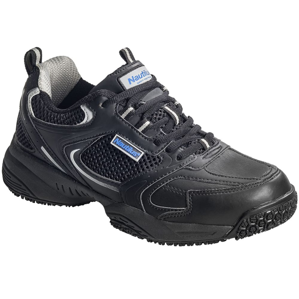 NAUTILUS Men's 2111 Steel Toe Athletic Work Shoe - BLACK