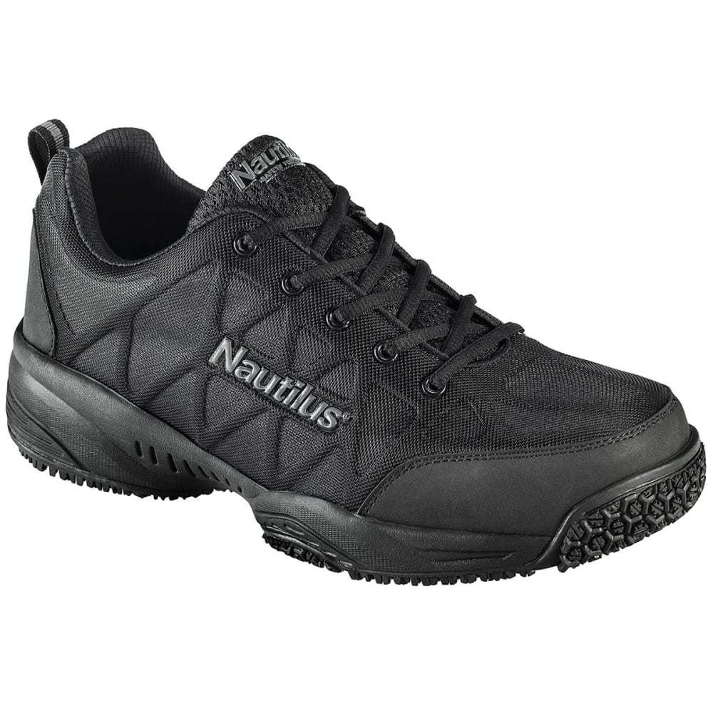 NAUTILUS Men's 2114 Composite Toe Athletic Work Shoes, Wide - BLACK