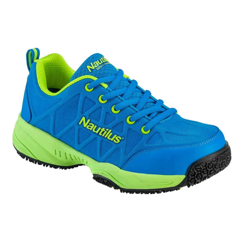 NAUTILUS Women's 2154 Composite Toe Athletic Work Shoes, Wide - BLUE