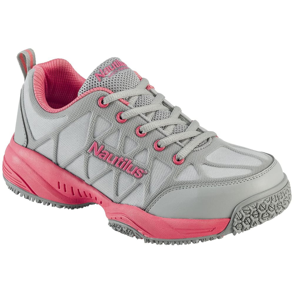 NAUTILUS Women's 2155 Composite Toe Athletic Work Shoes, Wide - GREY