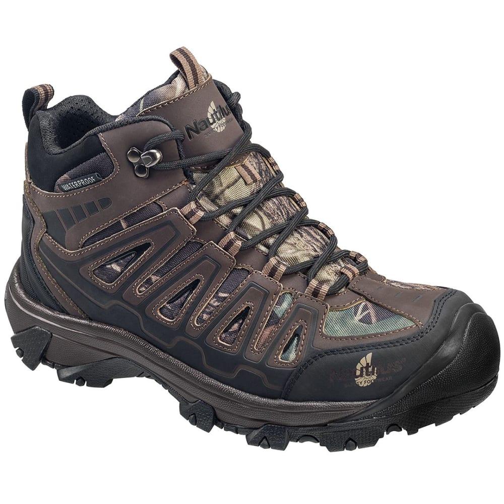 NAUTILUS Men's 2203 Steel Toe Waterproof Work Boot, Wide - BROWN