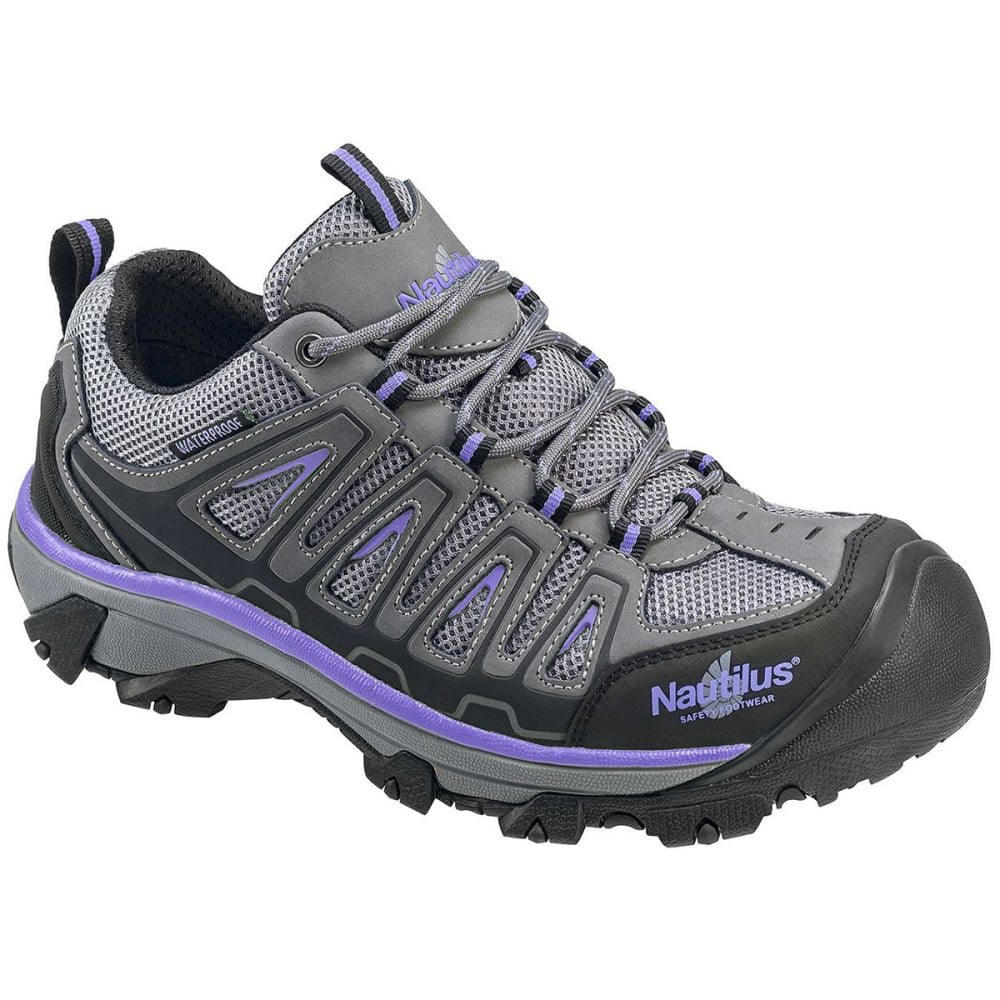 NAUTILUS Women's 2258 Steel Toe Waterproof Work Shoe, Wide - GREY
