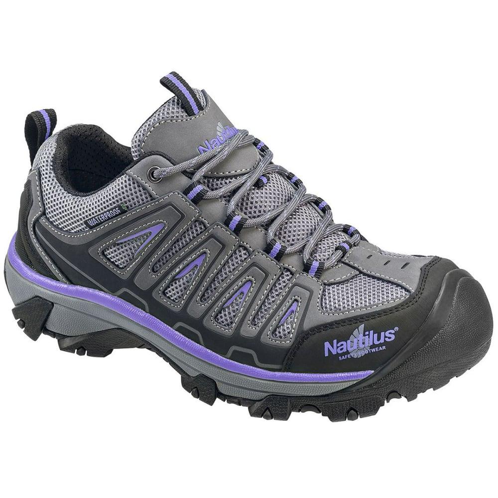 NAUTILUS Women's 2258 Steel Toe Waterproof Work Shoe, Wide - GREY