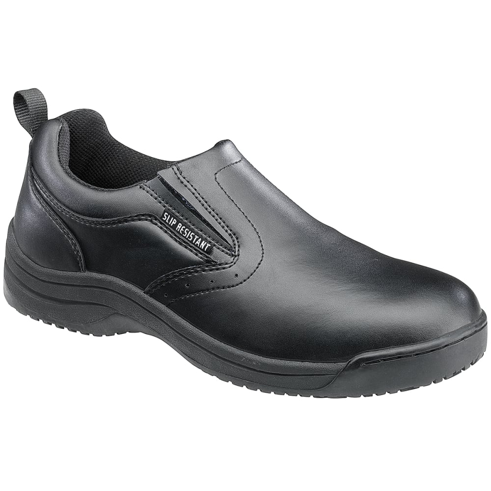 SKIDBUSTER Men's 5072 Slip-Resistant Slip-On Shoes, Wide - BLACK