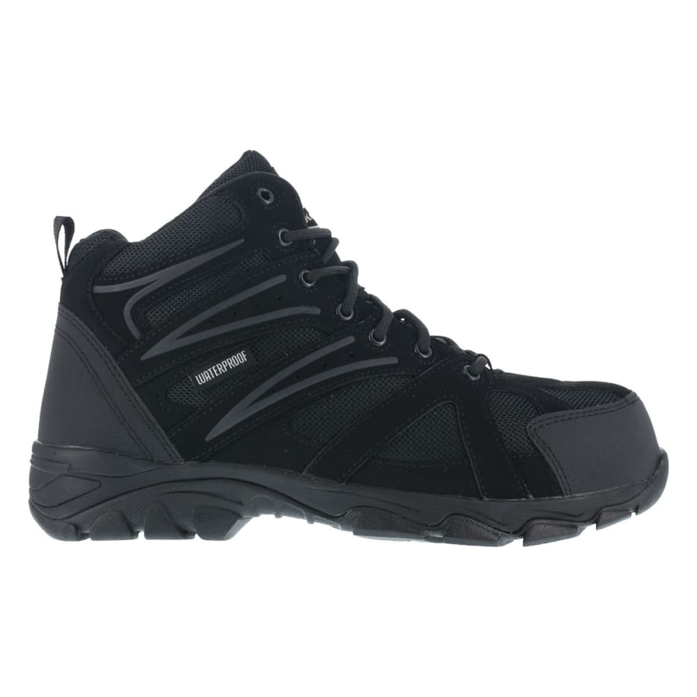 KNAPP Men's Ground Patrol Composite Toe Hiking Boots, Wide Width - BLACK