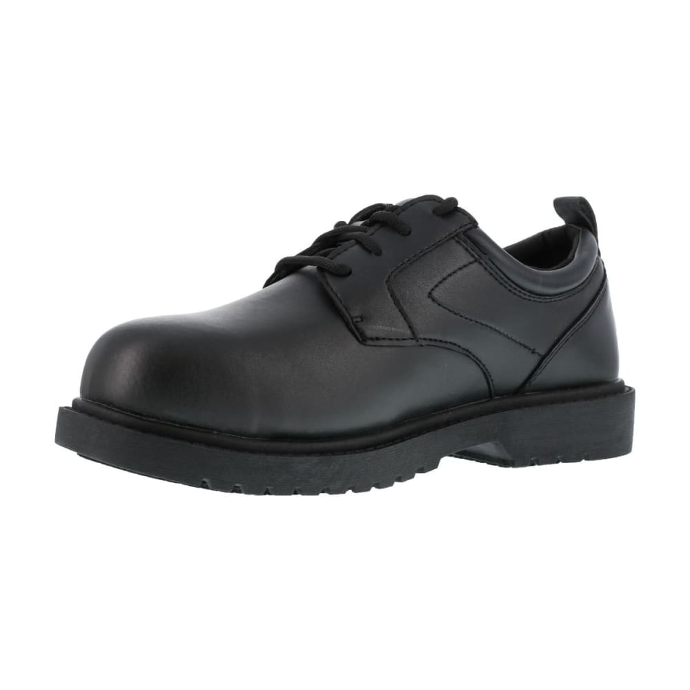 GRABBERS Men's Citation Steel Toe Work Shoes, Wide Width - BLACK