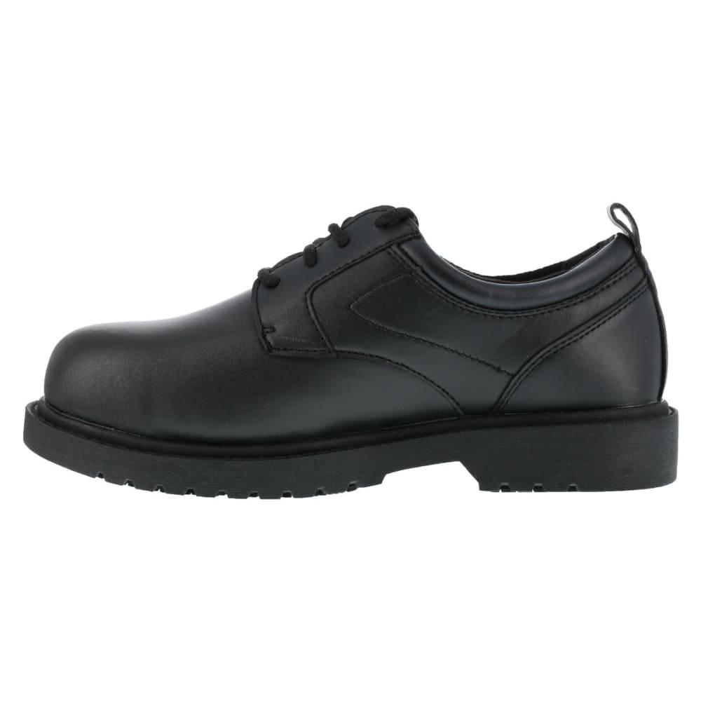 GRABBERS Men's Citation Steel Toe Work Shoes, Wide Width - BLACK