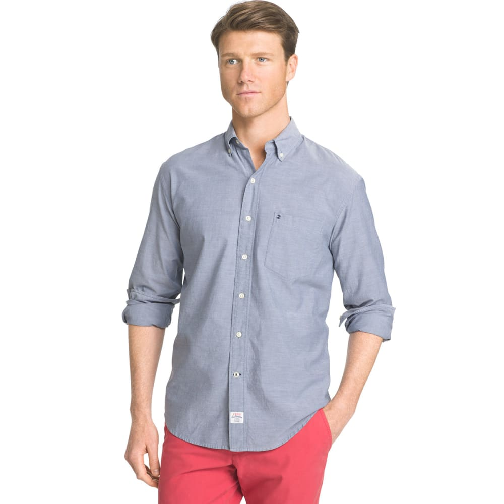 IZOD Men's Newport Long-Sleeve Oxford Shirt - 476-DARK DENIM