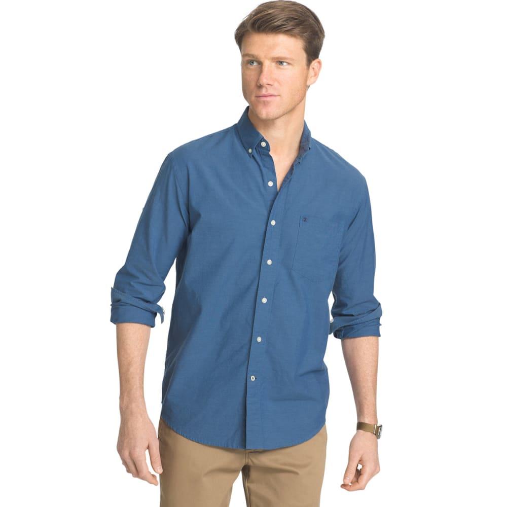 IZOD Men's Newport Long-Sleeve Oxford Shirt - 435-ESTATE BLUE