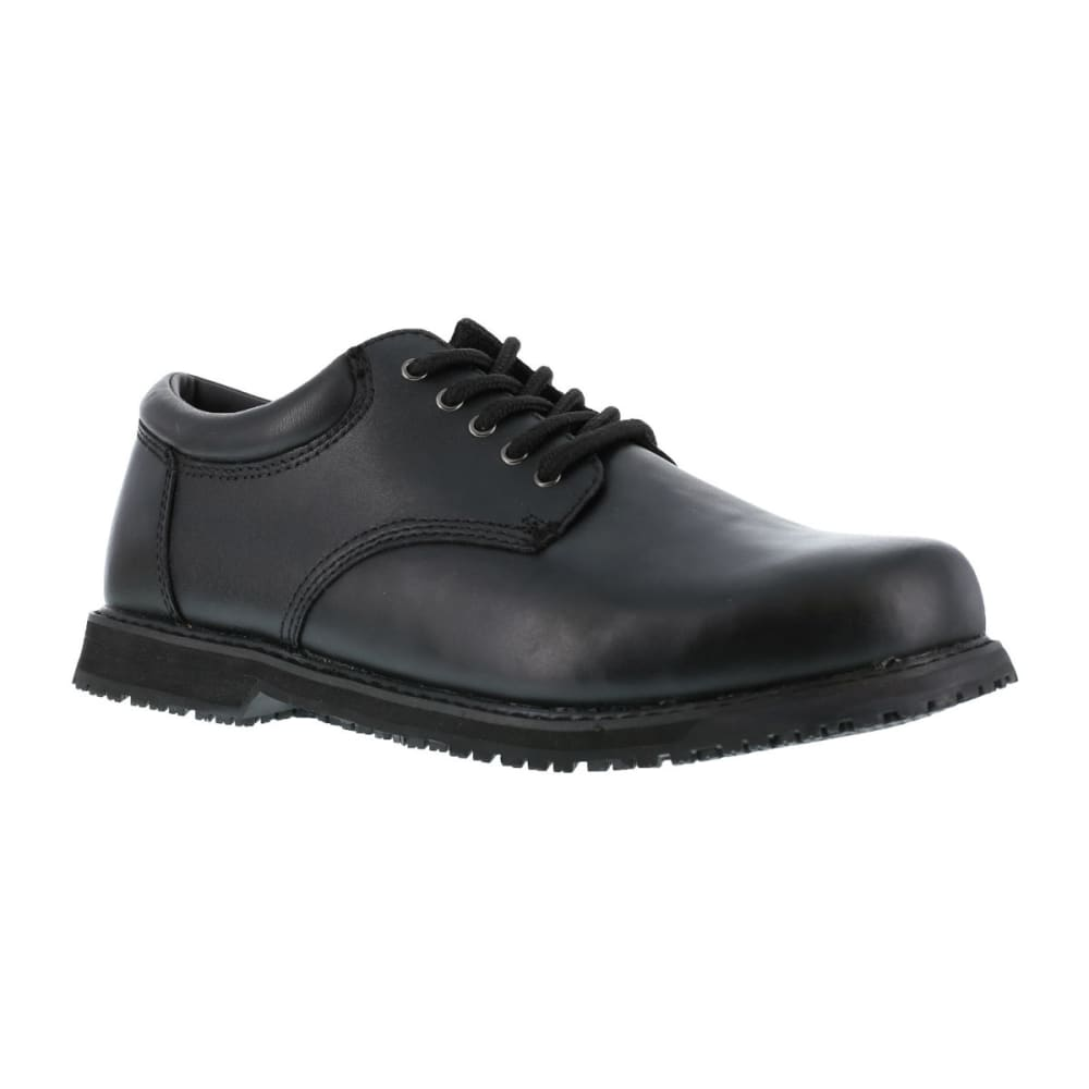 GRABBERS Men's Friction Work Shoes, Wide Width - BLACK