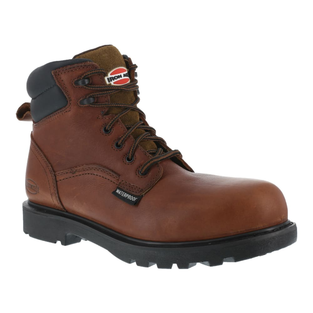 IRON AGE Men's Hauler Waterproof Work Boots - BROWN