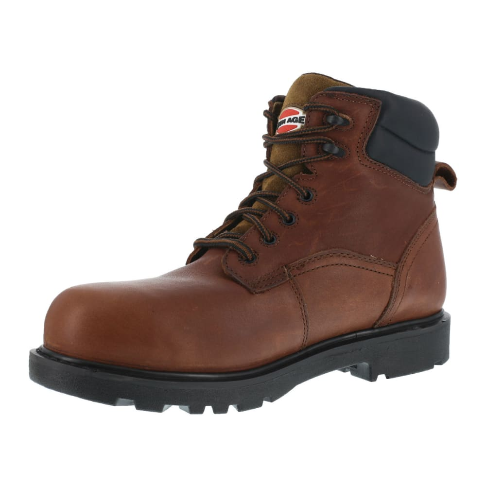 IRON AGE Men's Hauler Waterproof Work Boots, Wide Width - BROWN