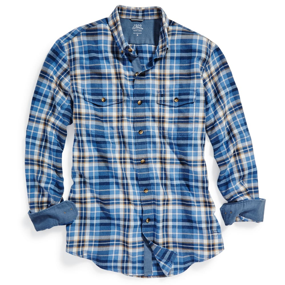 IZOD Men's Hyannis Flannel Long-Sleeve Shirt - 476-DARK DENIM