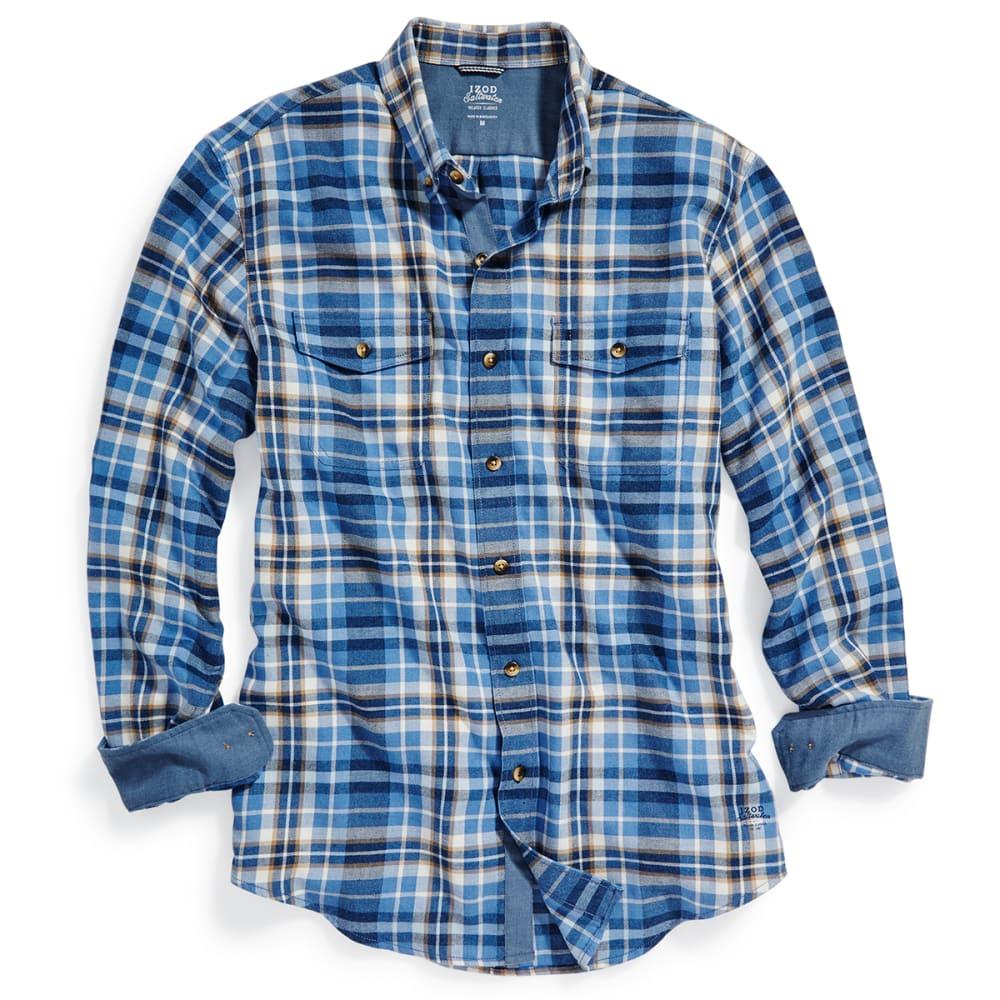 IZOD Men's Hyannis Flannel Long-Sleeve Shirt - 476-DARK DENIM