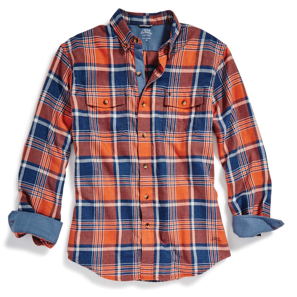 IZOD Men's Hyannis Flannel Long-Sleeve Shirt - 813-BURNT OCHRE