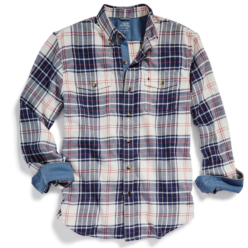 IZOD Men's Hyannis Flannel Long-Sleeve Shirt - 278-STONE