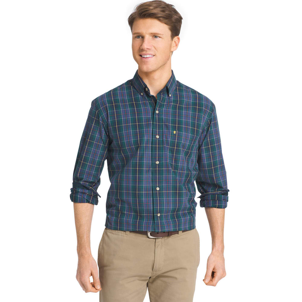 IZOD Men's Heritage Tartan Long-Sleeve Woven Shirt - 403-PEACOAT