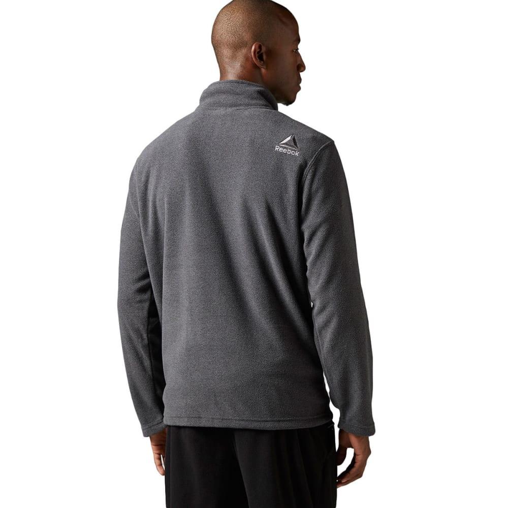 REEBOK Men's Light Micro-Fleece ¼ Zip - CHARCOAL-BH4717