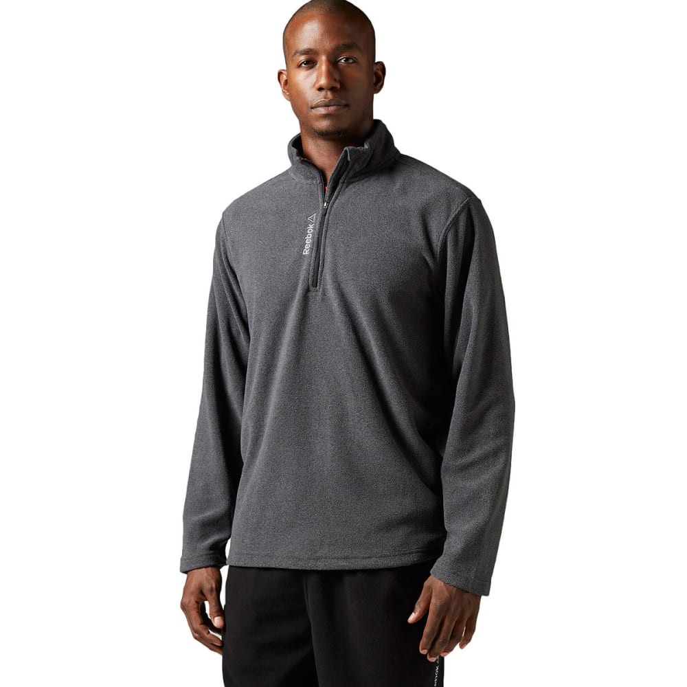 REEBOK Men's Light Micro-Fleece ¼ Zip - CHARCOAL-BH4717