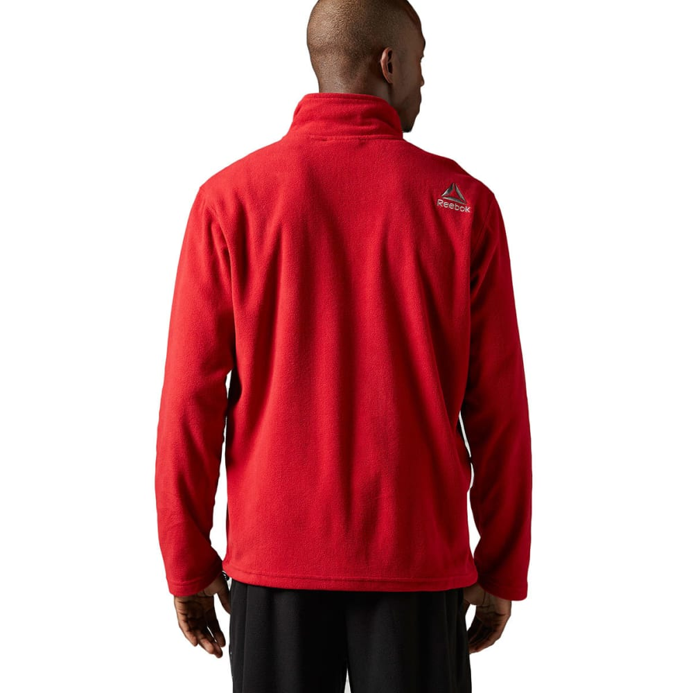 REEBOK Men's Light Micro-Fleece ¼ Zip - BLING RED-BH4719