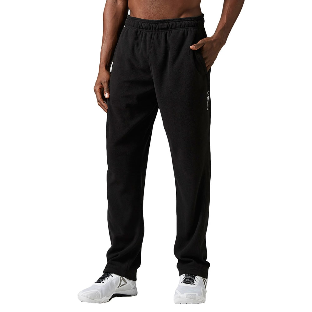 REEBOK Men's Light Micro-Fleece Pants - BLACK-BH4722