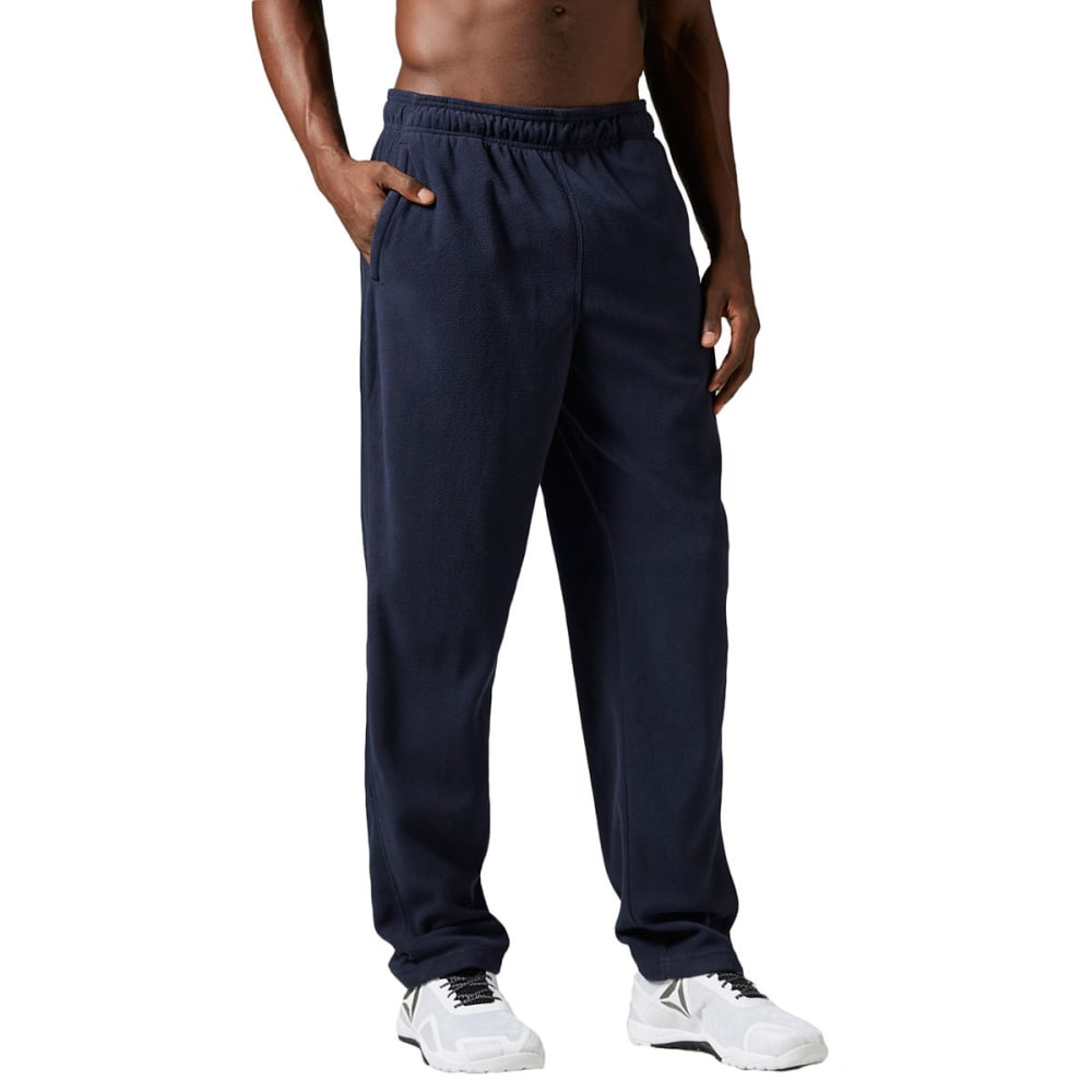 REEBOK Men's Light Micro-Fleece Pants - NAVY HEATHER -BH4721