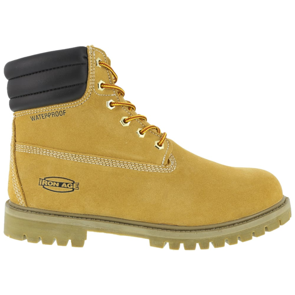 IRON AGE Men's Steadfast WP Insulated Work Boots, Wide Width - WHEAT