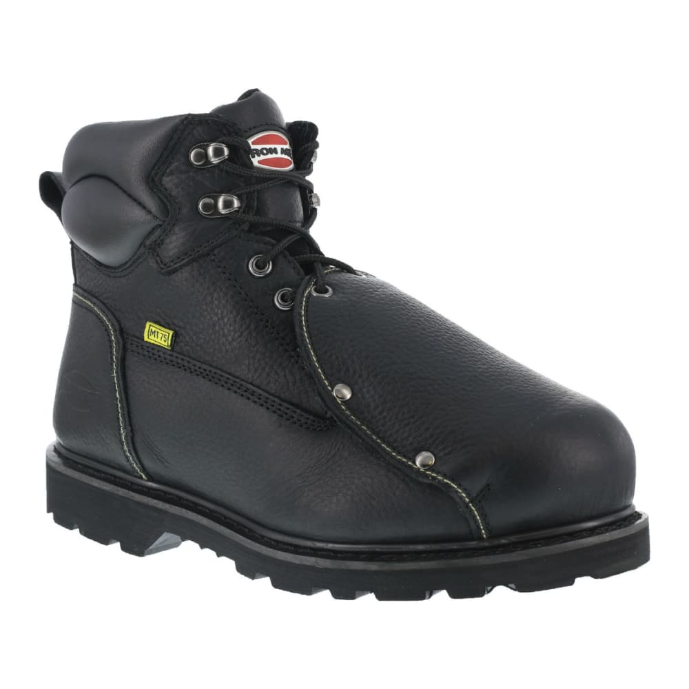 IRON AGE Men's Ground Breaker Work Boots, Wide - BLACK