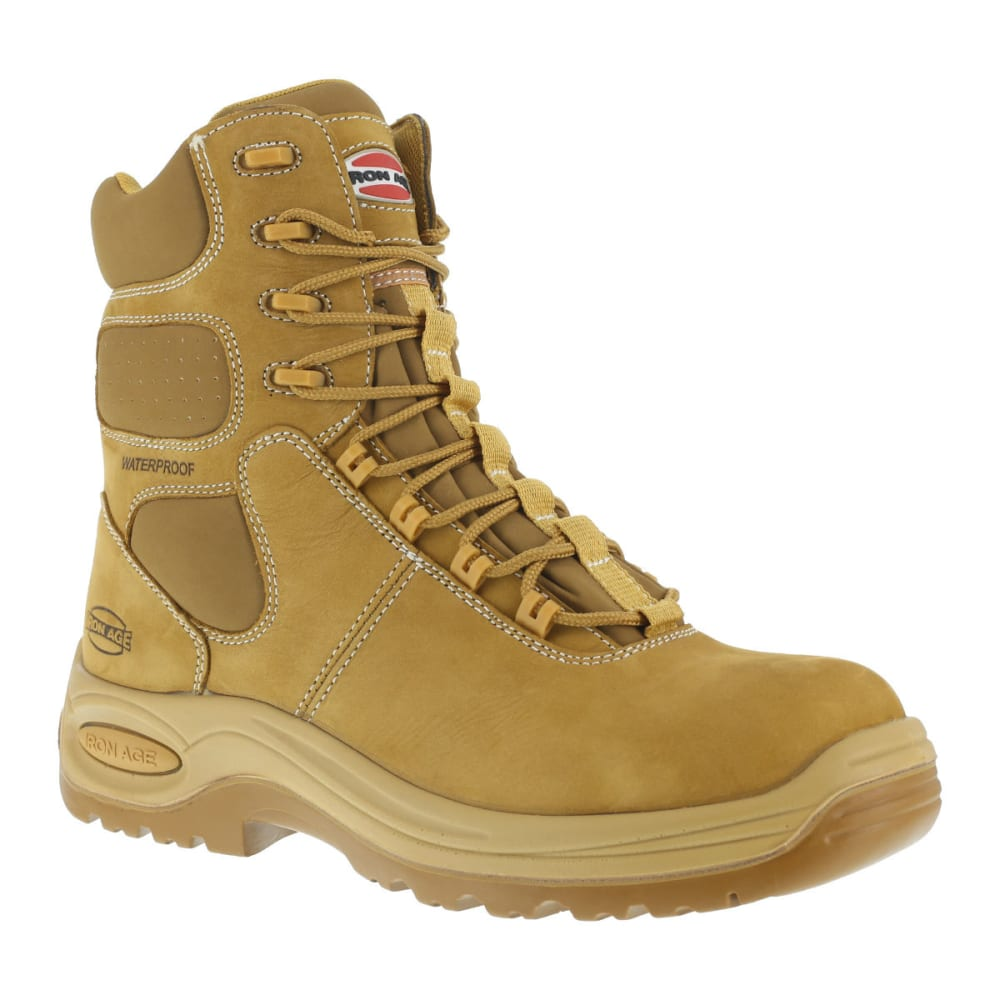 IRON AGE Men's Heated Work Boots - WHEAT