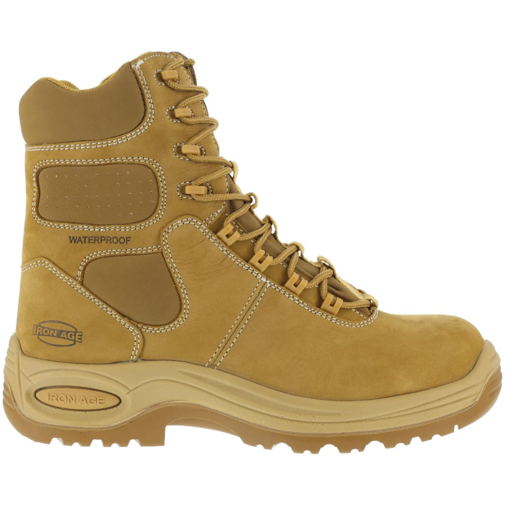 IRON AGE Men's Heated Work Boots, Wide - WHEAT