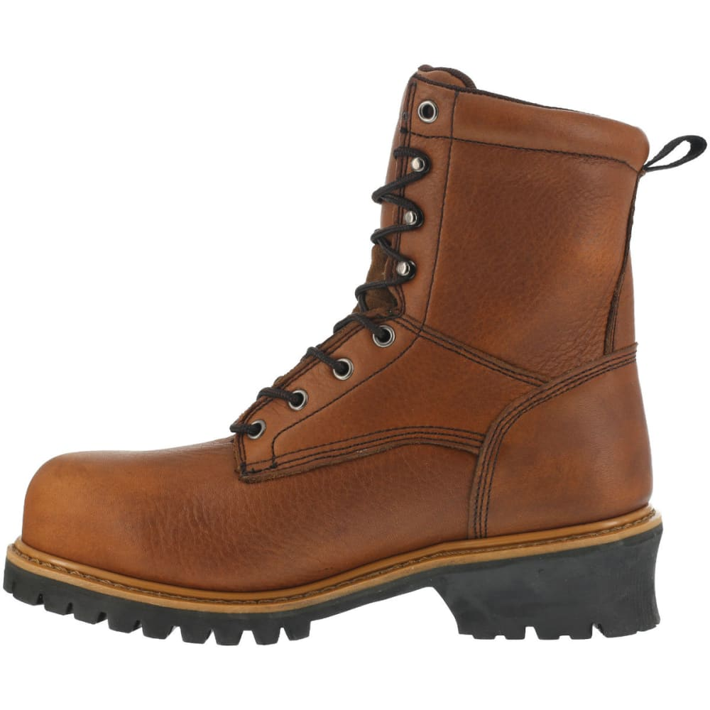 FLORSHEIM Men's Lumber Jack Work Boots - BROWN