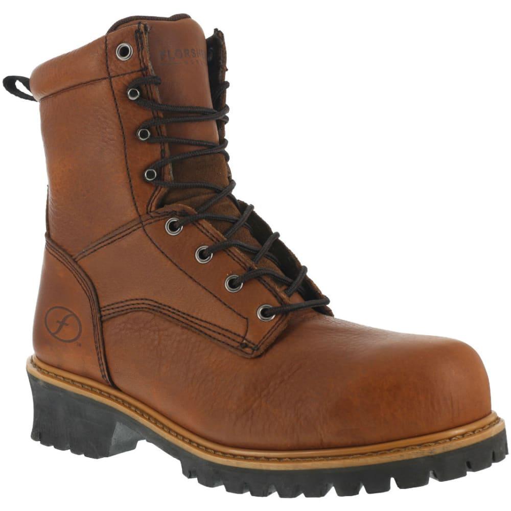 FLORSHEIM Men's Lumber Jack Work Boots, Wide - BROWN