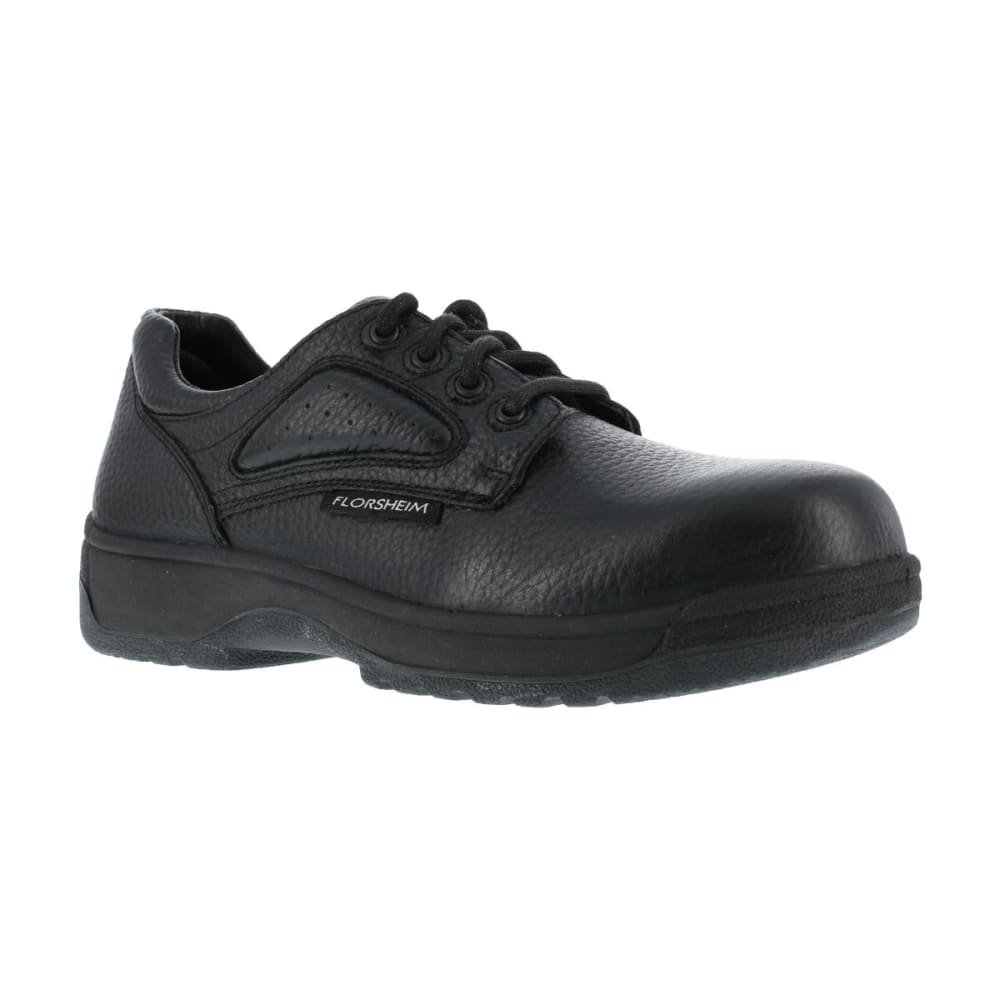 FLORSHEIM Men's Work Fiesta Shoes, Wide - BLACK