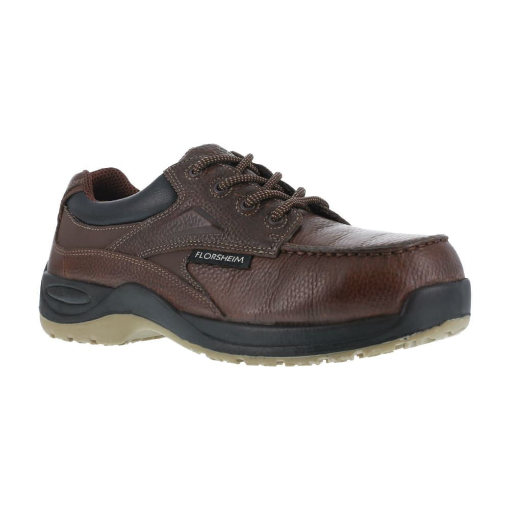 FLORSHEIM Men's Rambler Work Shoe, Wide - BROWN