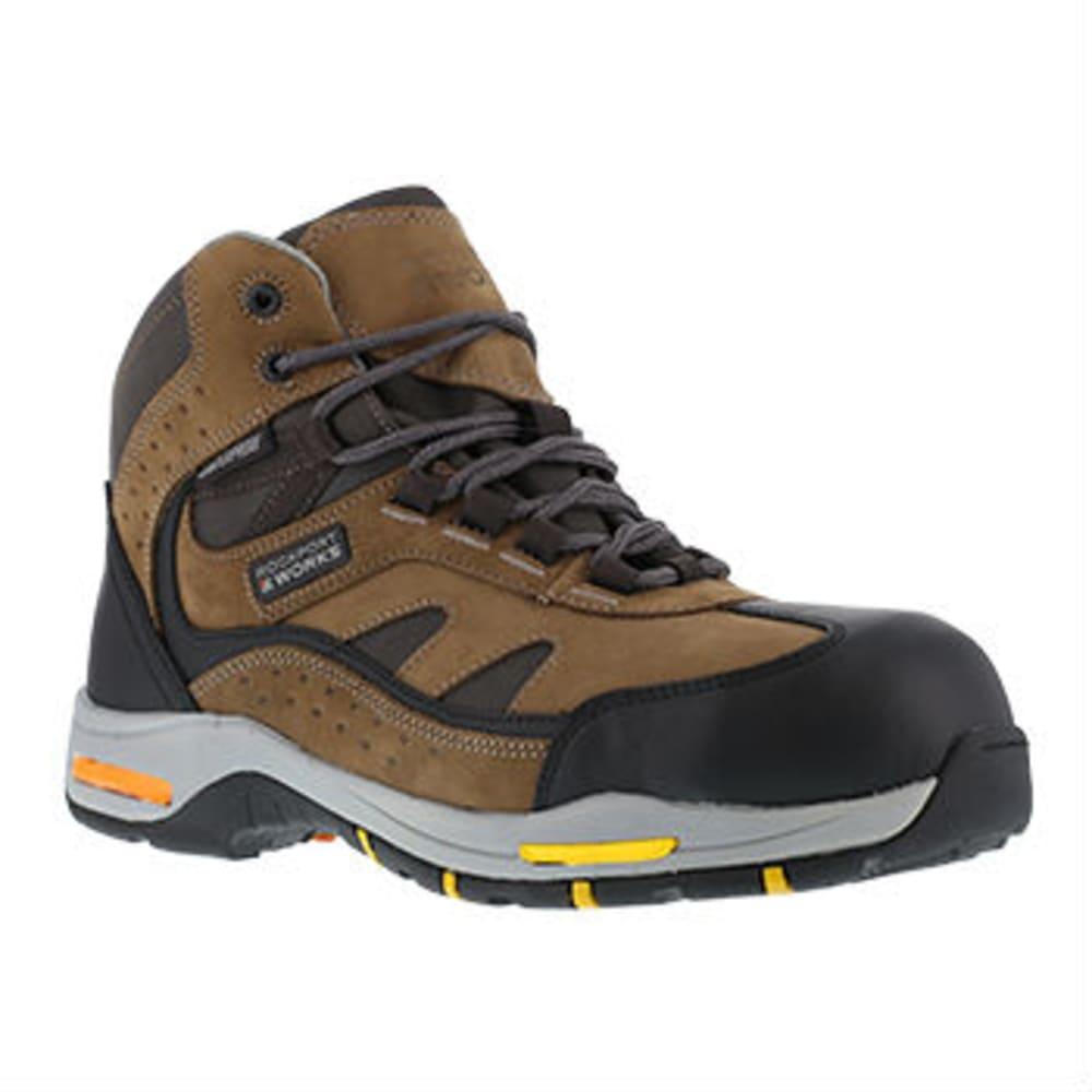 ROCKPORT WORKS Men's Prompter Hiking Boots - BROWN/BLACK