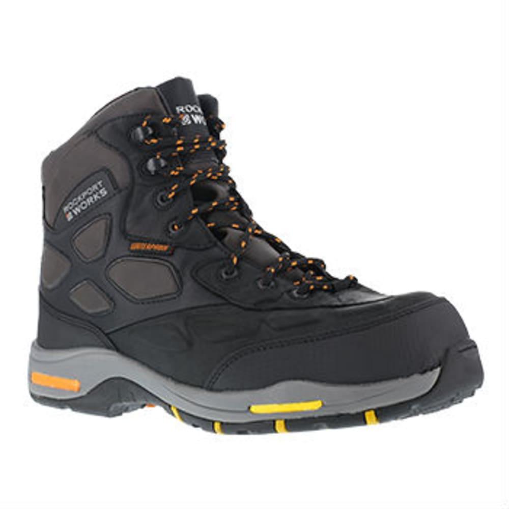 ROCKPORT WORKS Men's Prompter Hiking Boots, Wide - BLACK