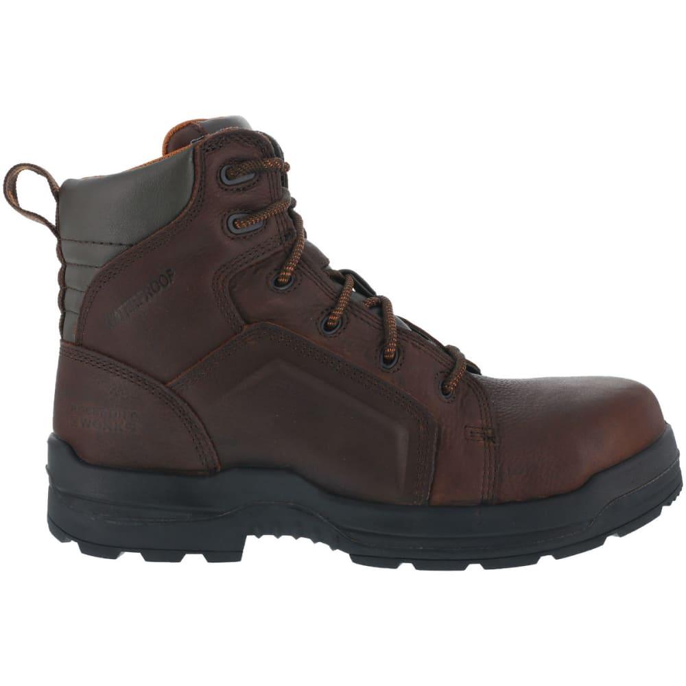 ROCKPORT Men's More Energy Work Boots, Wide - DARK BROWN