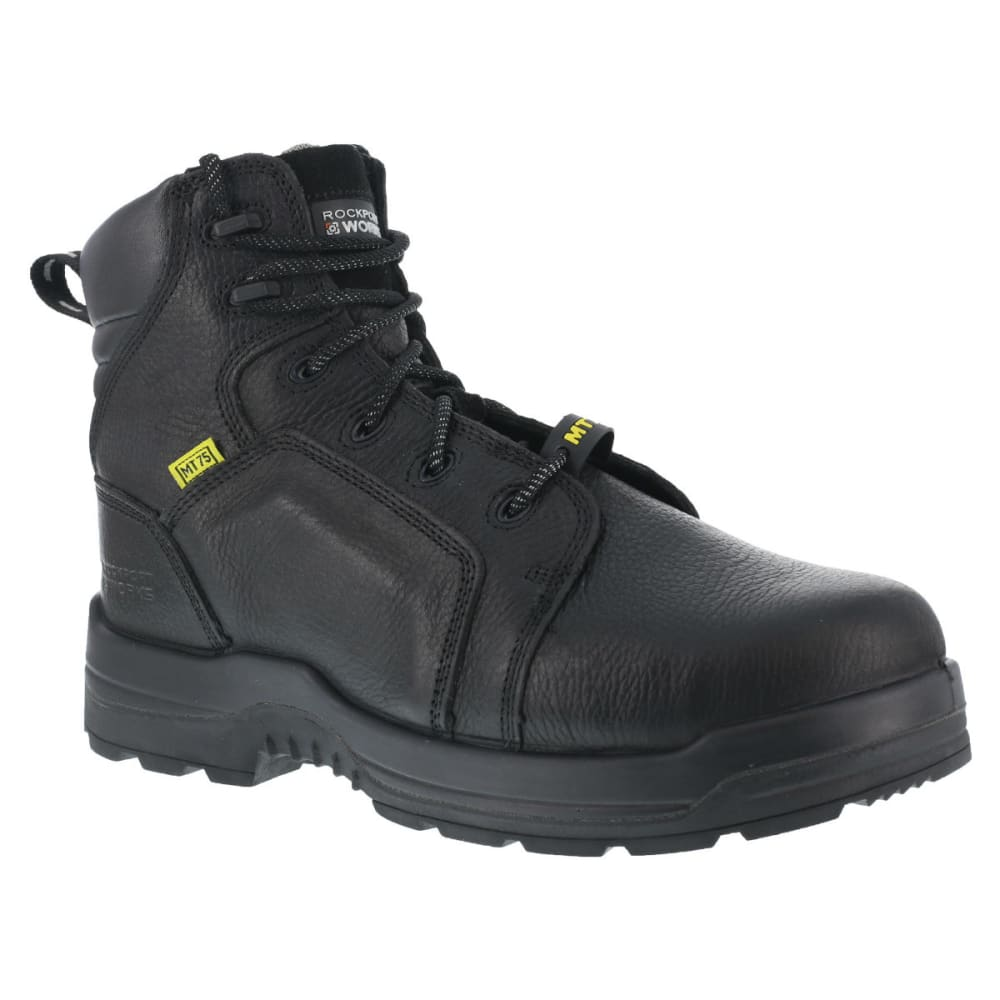 ROCKPORT Men's More Energy Work Boots, Wide - BLACK