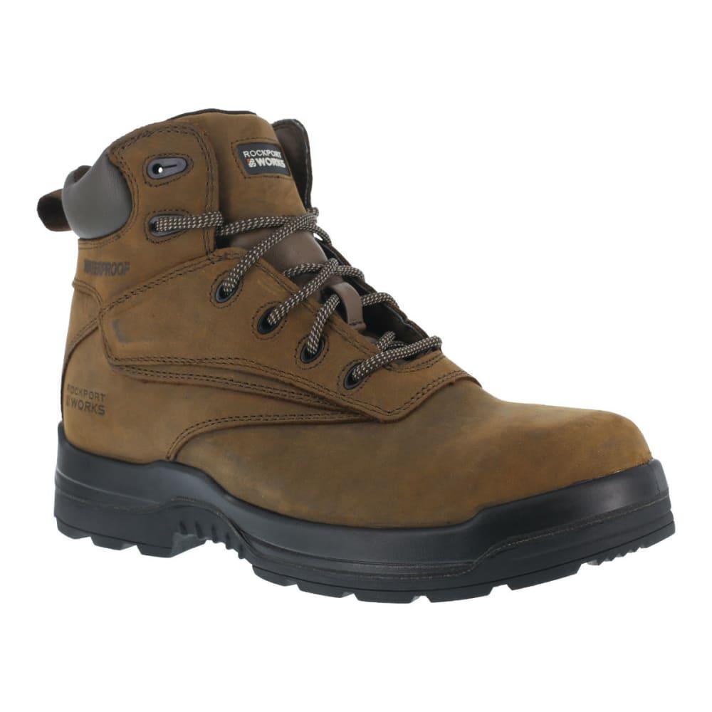 ROCKPORT Men's More Energy Work Boots - BROWN