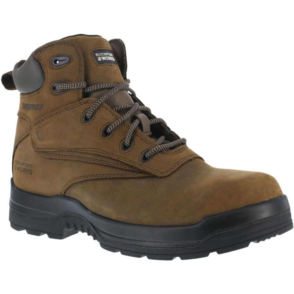 ROCKPORT Men's More Energy Work Boots, Wide - BROWN