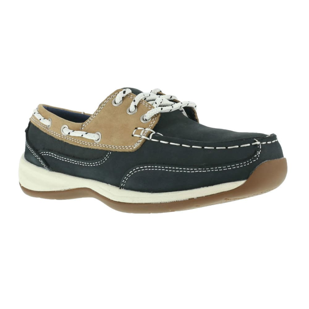 ROCKPORT WORKS Women's Sailing Club Shoes - BLUE/TAN