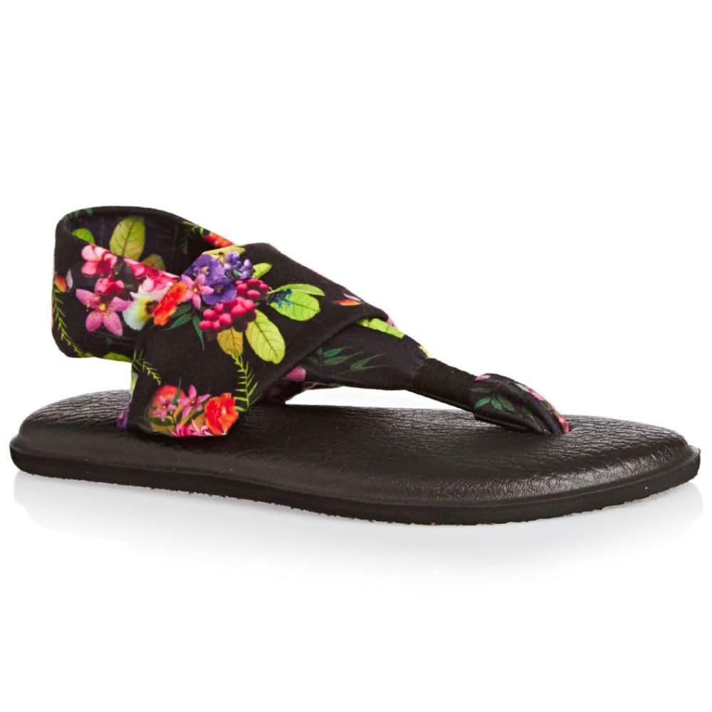 SANUK Women's Yoga Sling 2 Print Sandals - BLACK