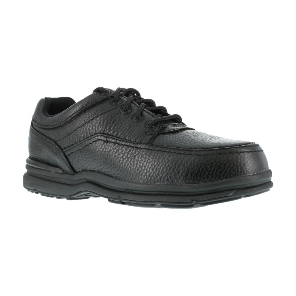 ROCKPORT Men's World Tour Steel Toe ESD Shoes, Wide - BLACK